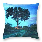 Lonely Giant Tree Throw Pillow