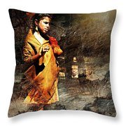 Lonely Girl Throw Pillow