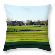 Lonely Golfer Throw Pillow