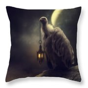 Lonely In The Moonlight Throw Pillow