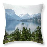 Lonely Island Among Giants Throw Pillow