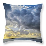 Lonely Kayak Throw Pillow