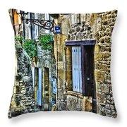 Lonely Lane In Sarlat France Throw Pillow