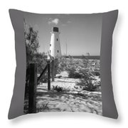 Lonely Light House  Throw Pillow