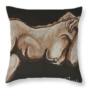 Lonely Night - Nudes Gallery Throw Pillow