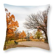 Lonely Park Throw Pillow