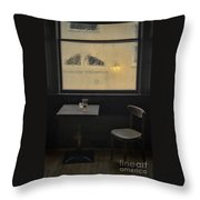 Lonely Bar Scene Throw Pillow