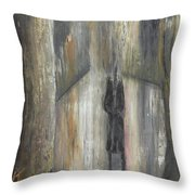 'lonely Road Without Him' Throw Pillow