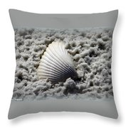 Lonely Shell Throw Pillow