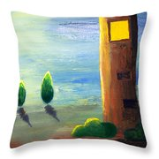 Lonely Tower Throw Pillow
