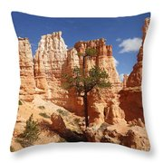 Lonely Trees Throw Pillow