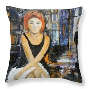 Lonely Woman Lonely Man Throw Pillow