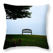 Lonesome Bench Throw Pillow