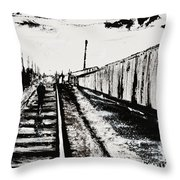 Lonesome Whistle Throw Pillow