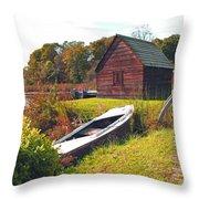 Long Ago Along The Marsh Throw Pillow
