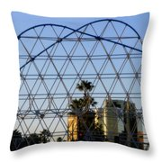 Long Beach Lines Throw Pillow