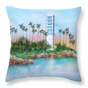 Long Beach Oil Island Throw Pillow