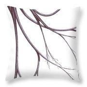 Long Branches Throw Pillow