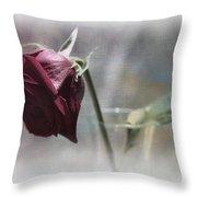 Red Rose Still Life Throw Pillow
