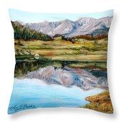 Long Draw Reservoir Throw Pillow