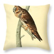 Long Eared Owl Throw Pillow