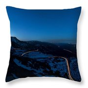 Long Exposure In Serra Da Estrela Portugal Throw Pillow