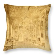 Long Gallery At Strawberry Hill Throw Pillow