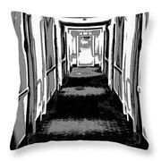 Long Hallway Throw Pillow