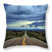 Long Highway Throw Pillow