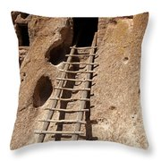 Long House Front Door Bandelier National Monument Throw Pillow