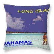 Long Island Bahamas IIi Throw Pillow