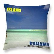 Long Island Bahamas Throw Pillow