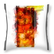 Long Island Iced Tea Cocktail Marker Sketch Throw Pillow