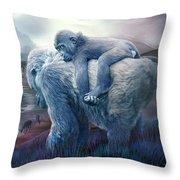 Silverback Gorilla - Long Journey Home Throw Pillow