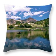 Long Lake Beartooth Pass Throw Pillow