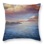 Long Lake  Throw Pillow by Paula Marsh