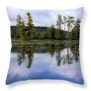 Long Lake Reflection Throw Pillow