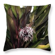 Long Leaf Explosion Throw Pillow