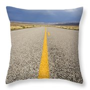Long Lonely Road Throw Pillow