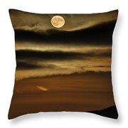 Long Nights Moon Throw Pillow