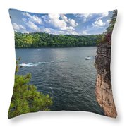 Long Point At Summersville Lake Throw Pillow