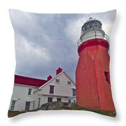 Long Point Lighthouse In Twillingate-nl Throw Pillow