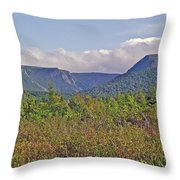 Long Range Mountains In Western Nl Throw Pillow