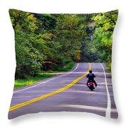 Long Ride Throw Pillow