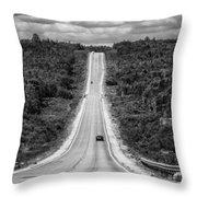 Long Road Ahead  8923bw  Throw Pillow