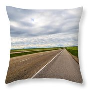 Road To The Sky In Saskatchewan. Throw Pillow