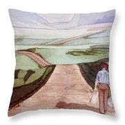 Long Road Throw Pillow