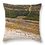 Long Road To The Coast Near Jekyll Island Throw Pillow