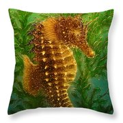 Long Snout Seahorse Throw Pillow