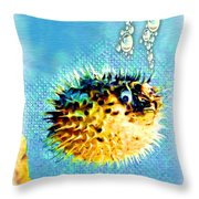 Long-spine Fish Throw Pillow